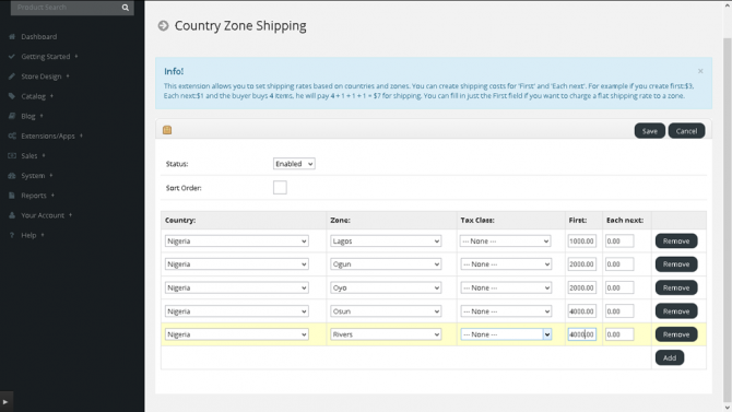 New shipping method: Country Zone Shipping