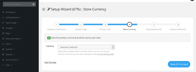 New Feature: Default store currency on setup wizard