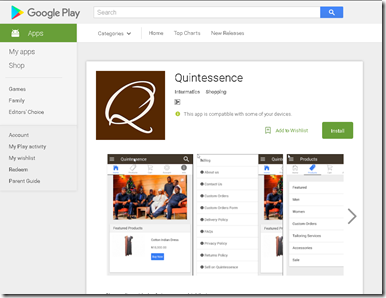 New  App: Quintessence