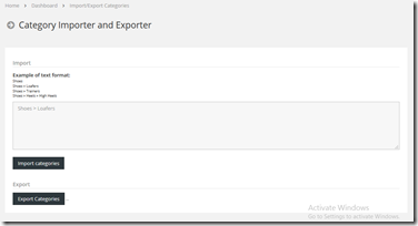 New Feature: Category Import & Export